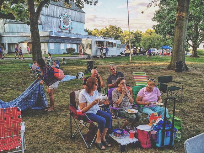 People watching at the American Shakespeare Theatre.... American Shakespeare Theatre USA New England  August Summertime Summer Theatrical Performance Sunset Outdoors Outside Taming Of The Shrew Shakespeare Theater Theatre Stratford Upon Housatonic Stratford Eastern Seaboard