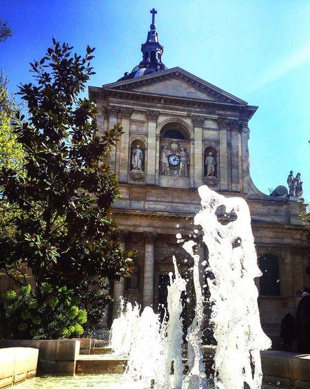 H2o Perspective St Germain La Sorbonne Architecture Built Structure Building Exterior Statue Day Sculpture Tree