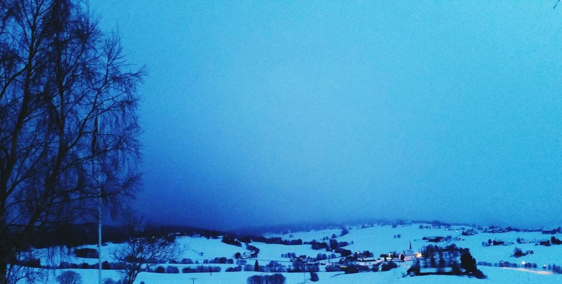 Snow is comming Norway Nature Winterscapes EyeEm Nature Lover Bluetime Skaun Snowing Wintertime
