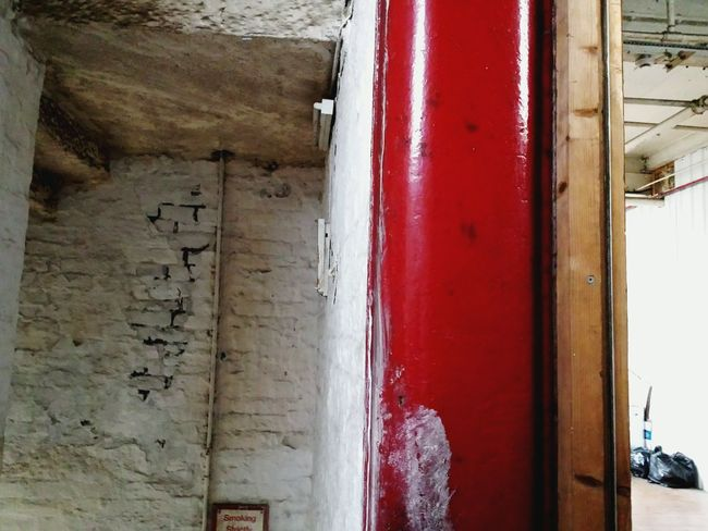 Showcase: January Wall Geometry Geometric Shapes Old Mill  Sowerby Bridge Red White Architecture Structure Leading Lines Frame Internal View Better Look Twice Internal Door Frame Mill Old Buildings Old Building  Indoors  Steps And Staircases Steps Walls Urban Geometry Door