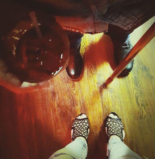 Hanging Out Wood Floor Bar Drink Pool Cue Feet Womansfoot Boots Heels HighHeels Jeans Woman Man Shoes Lookingdownatyourfeet