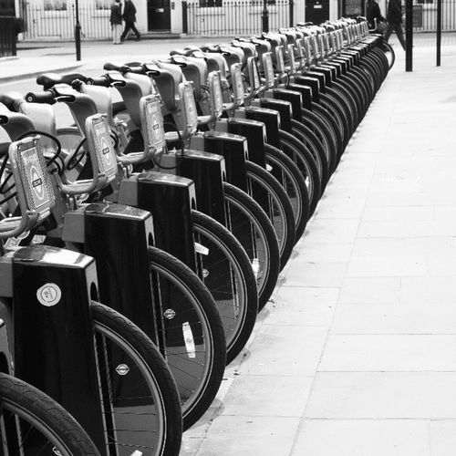 Boris Bikes Bikes. Black And White London