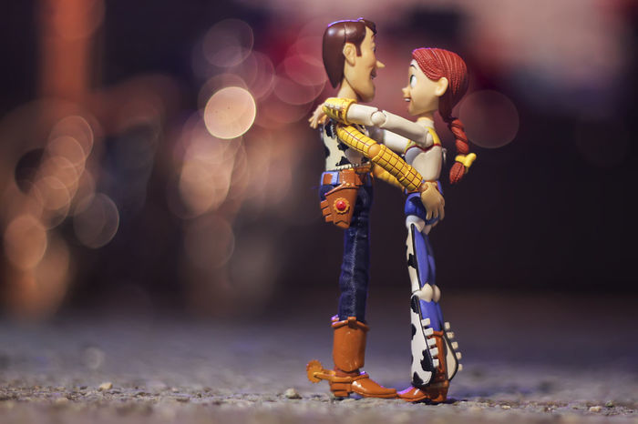 Jessie Woody Close-up Doll Figurine  Full Length Human Representation Illuminated Male Likeness Night No People Outdoors Sculpture Statue Toystory