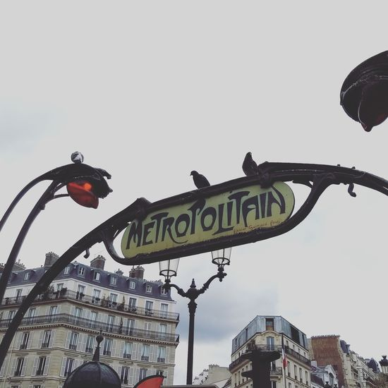 Metropolitain Metropolitain Paris France Subway City Text Arts Culture And Entertainment Western Script Sky