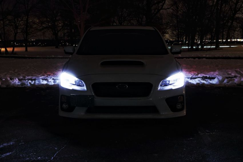 CLIGHTS Subaru Subaru Impreza Wrx STi 2017 Subarunation Subaru Wrx Imprezawrx Imprezasti Subie Subieflow Subielove Car Transportation Dark Night Land Vehicle Tree Mode Of Transport Illuminated Stationary No People Nature Outdoors