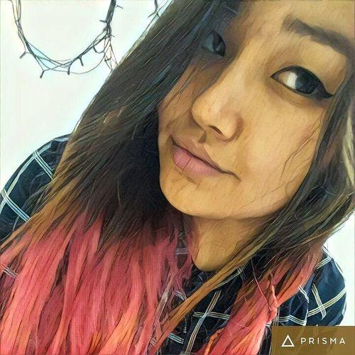 A Ka Mi It's Just Me Myself And I Kamila Ali Love The Way I Am <3 Prisma Redhairedgirl Selfie 卡米拉 哈萨克姑娘 就是我