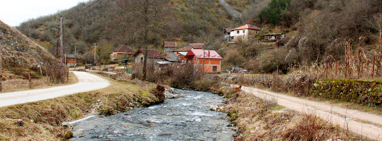 village of dobrenoec,macedonia Architecture Beauty In Nature Built Structure Clear Clear Water Creek Day Dobrenoec House Kičevo Macedonia Nature No People Outdoors River Tranquil Scene Tree Village