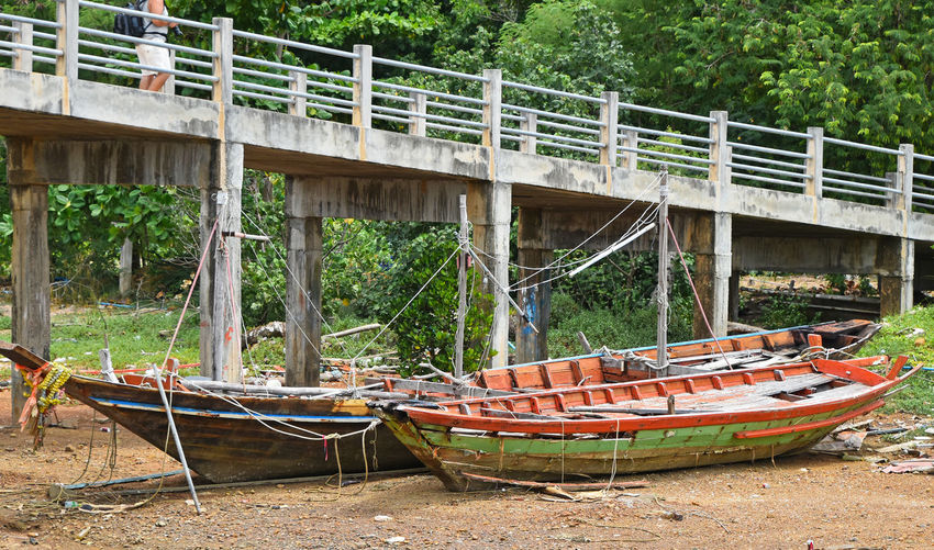 Dry parking for boats Ang Thong National Marine Park Angthong Boat Boats Dry Ethnic Fisherman Boat Fishermanvillage Fishermen Boat Fishermenvillage Local Longtailboat Parking Spotted In Thailand Thai Traditional Village