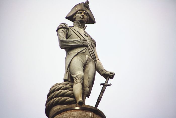Travel Destinations Sculpture Low Angle View Outdoors Statue Travel London Trafalgar Streamzoofamily