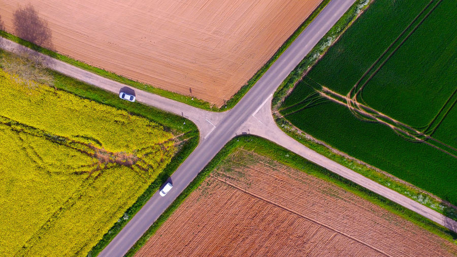 DJI X Eyeem Dji Above Aerial View Agriculture Beauty In Nature Day Drone  Dronephotography Field Flying Green Color High Angle View Landscape Nature No People Outdoors Road Rural Scene Scenics Place Of Heart