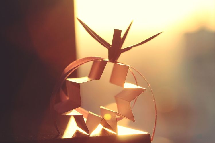 Close-up No People Celebration Illuminated Indoors  Day Hello World The Portraitist - 2017 EyeEm Awards Lights Light Light And Shadow Japanese  Bird Paperbirds Paper Art Origami Live For The Story