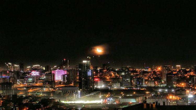 Son Dördün🌗 🌃Lastquarter Moon Moonlight Istanbul City Istanbuldayasam Night Nightphotography Night Lights City Cityscape View Gece