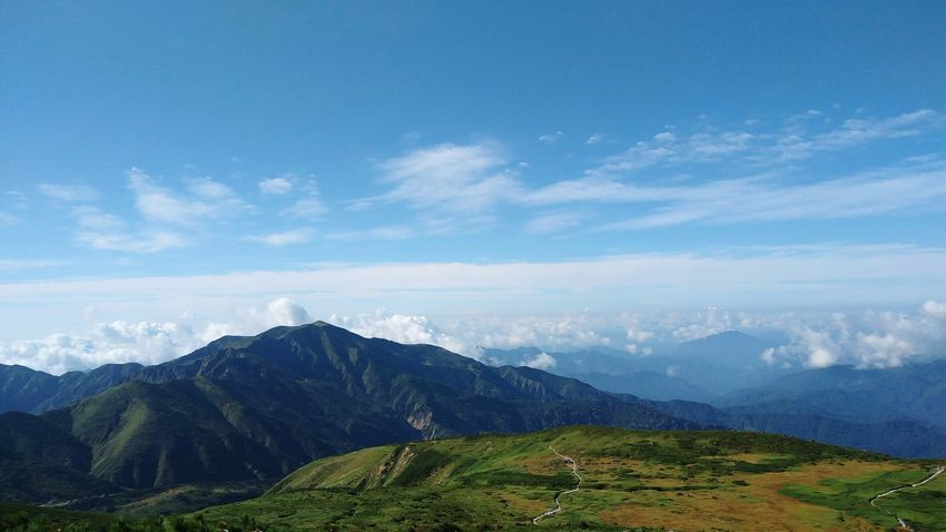 Mt Hakusan Hakusan Kanazawa Hakusan Horizon Over Sky EyeEm Selects Mountain Cloud - Sky Landscape Scenics Sky Outdoors Mountain Range No People Nature Beauty Day Beauty In Nature Vacations EyeEmNewHere