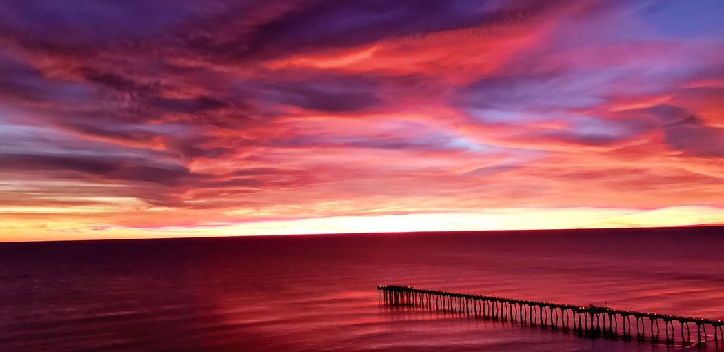 Water Sea Sunset Beach Red Summer Pink Color Relaxation Dramatic Sky Sky