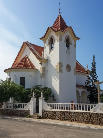 Colonial church in Lobito situated on the peninsula of this coastal town. Angola Architecture Christianity Church Lobito Africa Architecture Bell Tower Building Building Exterior Buildings Built Structure Churches Colonial Colonial Architecture Cross Day No People Outdoors Place Of Worship Religion Religion And Beliefs Sky Spirituality