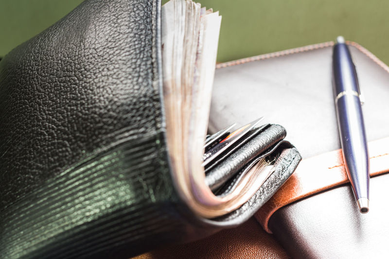 Accessories Agreement Appointment Bank Business Card Classic Contract Currency File Finance Holder Leather Management Money Notebook Pen Pocket  Pocket Full Money Rich Saleman Selective Focus Still Life Travel Wallet