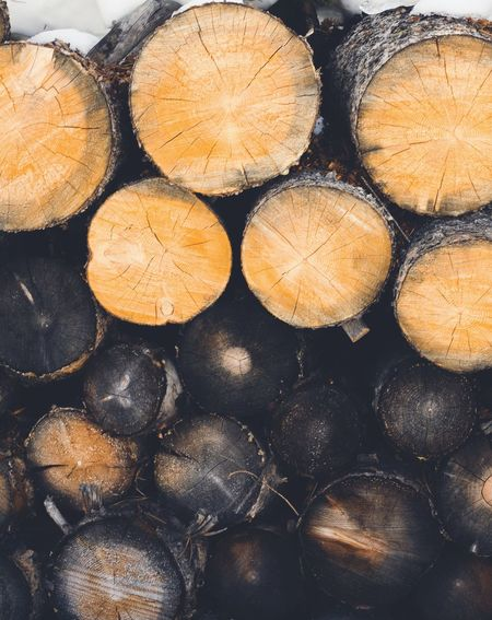 Log Timber Circle Full Frame Deforestation Wood - Material Woodpile Stack Lumber Industry Environmental Issues Fossil Fuel Backgrounds Nature No People Cross Section Forestry Industry Tree Ring Day Outdoors