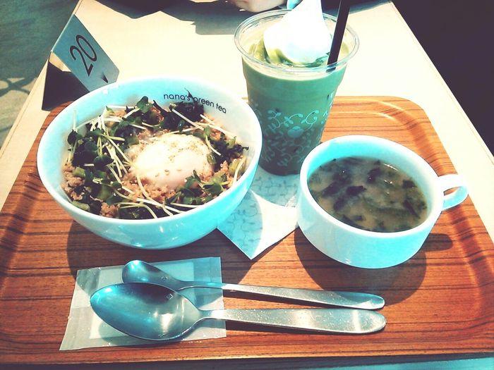そぼろ丼 抹茶ラテ Tokyo Lunch Food Have A Good Meal