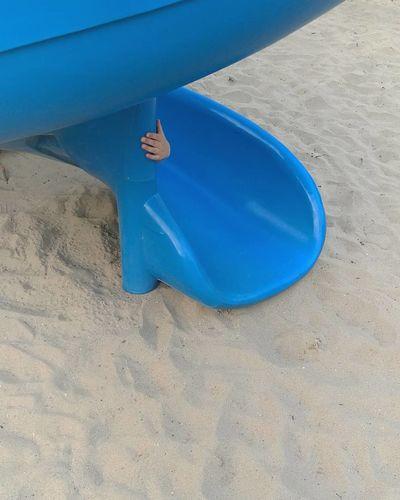 Hand Childhand Playground Playground Equipment Playground Structure Playground Abstraction Down Minimalism Water Beach High Angle View Sky