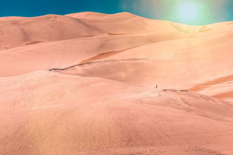 Landscape of the great sand dunes national park, colorado, no