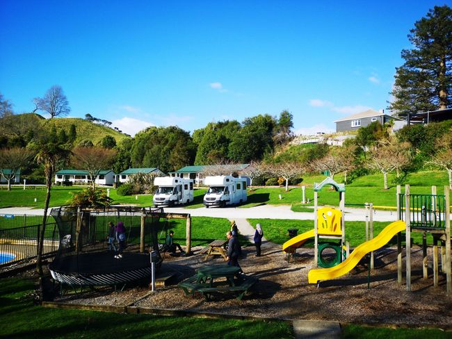 Beautiful holiday and campervan park, wort every penny and dollars EyeEm Selects Campervan Holidays Blue Sky Grenery Tree Sky Slide - Play Equipment Water Park Outdoor Play Equipment Coiled Spring Beach Umbrella Park - Man Made Space Pool Party Playground Hooded Beach Chair Slide Water Slide