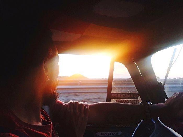 ThatsMe Vehicle Interior One Person Sunset Car Interior Sunlight Men me&life