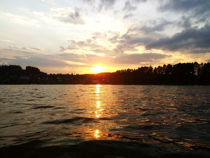 Sunset Sunlight Lake First Eyeem Photo