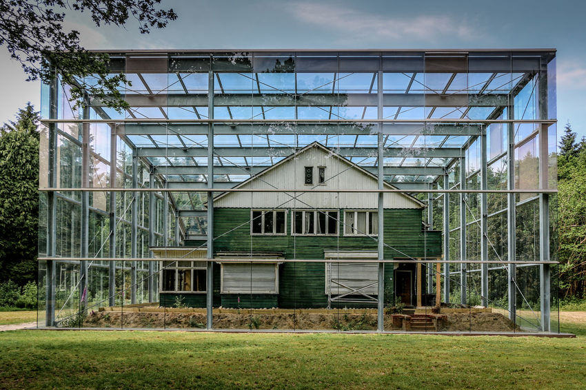 Architecture Building Exterior Built Structure Day Goal Post Grass Green Color Greenhouse Indoors  No People Sky Tree Westerbork