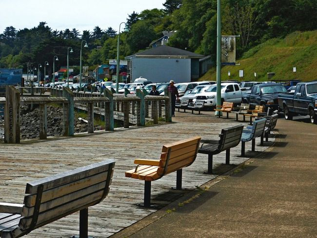 Newport Bayfront... Newport Oregon Nikon_photography Wood Benches ToolWiz Photos Photo Editor My Photo Album ♡