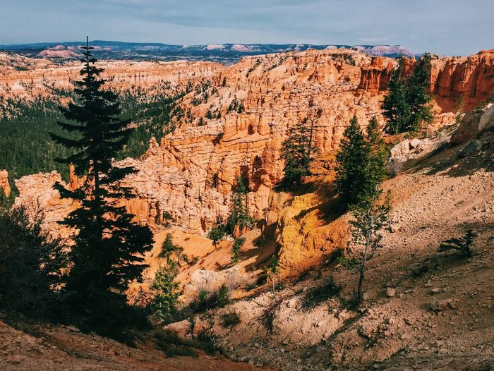 Scenic view of rock formations at bryce canyon national park