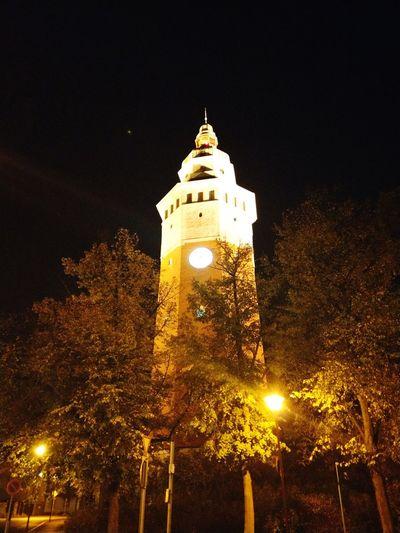 Wasserturm Clock Tree Clock Tower Star - Space Black Background