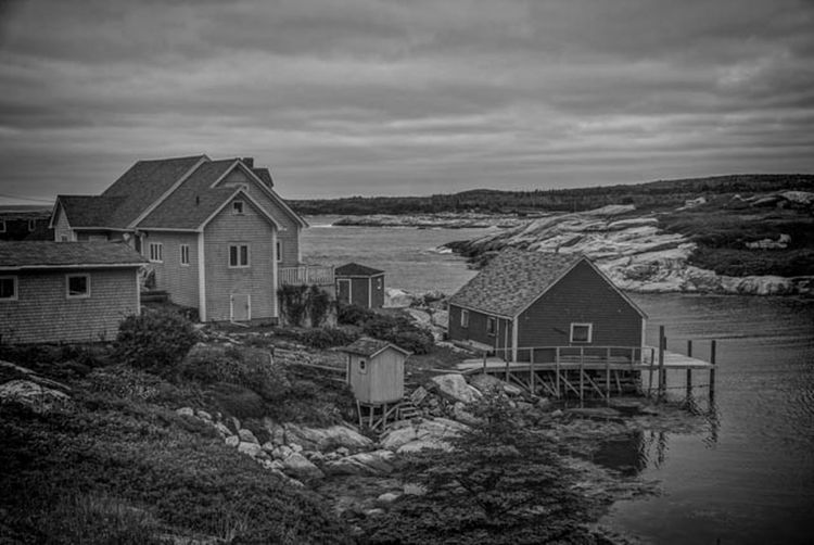 Peggy's Cove Architecture Building Exterior Built Structure Cloud - Sky Day House Nature No People Outdoors Sea Sky Water