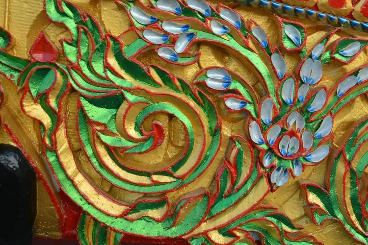 Thailand Travel Line Thai Asian  Car Colroful Festival Sculpture Style Flower South Beauty Full Frame Backgrounds Pattern Multi Colored No People Close-up Day