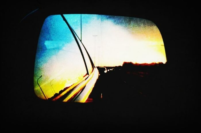 On The Road Vacancy Reflection Sunset