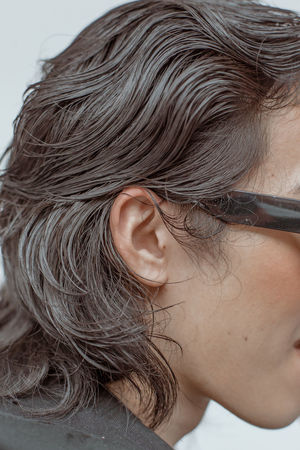 a wavy sea Glasses Hair Hair Salon Hairstyles Beauty Salon Brown Hair Close-up Ear Hair Hair Care Hair Style Haircut Hairdresser Hairstyle Hairstylist Healthy Hair Human Ear Human Face Human Hair Skin Care Skincare Wet Hair