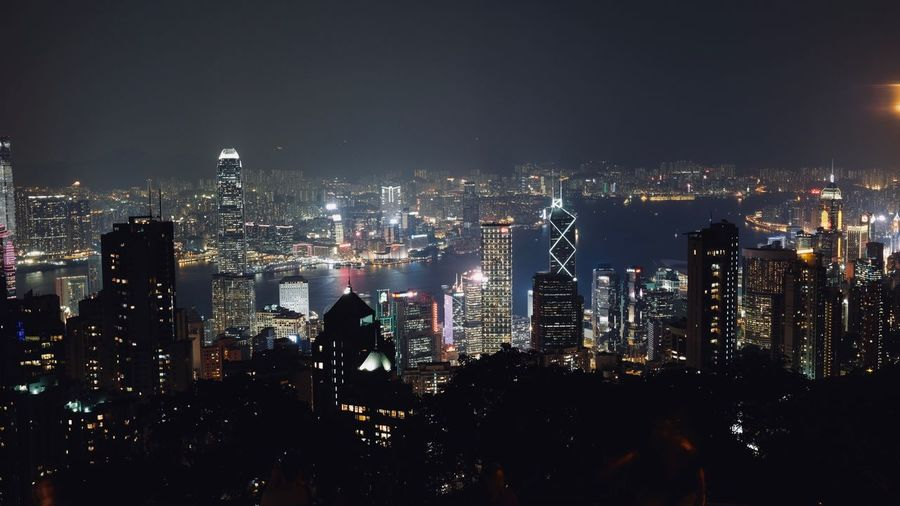 The peak Cityscape Skyscraper Architecture Building Exterior City Modern Illuminated Travel Destinations Built Structure Crowded Urban Skyline Downtown District Night Growth Tall Downtown Outdoors Sky Office Park The Peak HongKong EyeEmNewHere