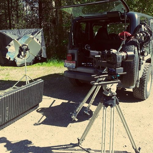 On Location Shooting today. No grip truck just a Grip Jeep . Its a jeep thing. TITSP