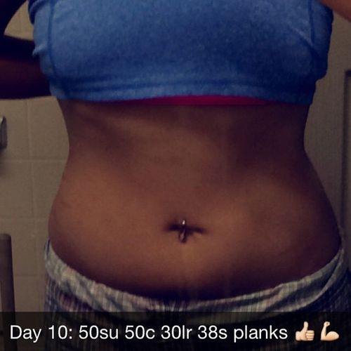 Day 10: 3x 50 sit-ups, 50 crunches, 30 leg raises, and 38s planks 30daychallenge 30dayabchallenge AbWorkOut Gettingfit Day10abworkoutcomplete 👍💪