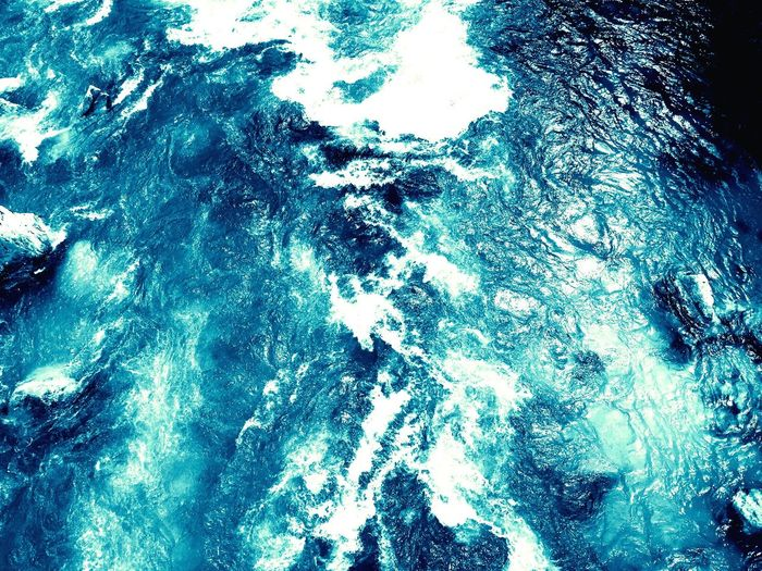 Water. Blue