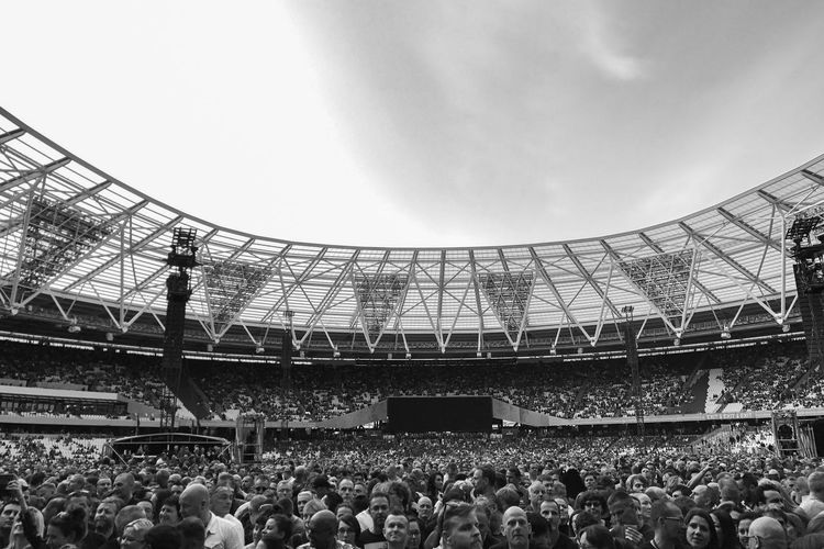 Large Group Of People Crowd Audience Stadium Fan - Enthusiast Concert Music Photography  Blackandwhite London The Great Outdoors - 2017 EyeEm Awards