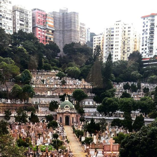 Happy Valley got its name due to the fact the mortality rate went quite high and thus developed a large cemetery Wongnaichung Happyvalley Cemetery Peace HongKong Darkhumor Beautifulplaces