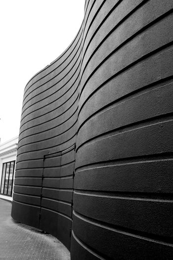 Architecture Black And White Photography Building Exterior Built Structure Curved Building Curved Structure Curves And Lines Lines And Shapes No People Outdoors Pattern Shapes Spa Bridlington