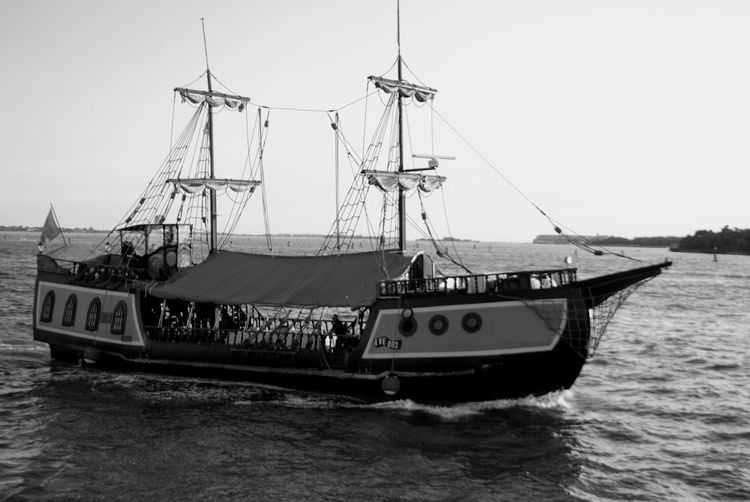 Venice, Italy Sea Boat Sea Beach Saber Be. Ready. Black And White Friday EyeEmNewHere Adventures In The City Focus On The Story Going Remote