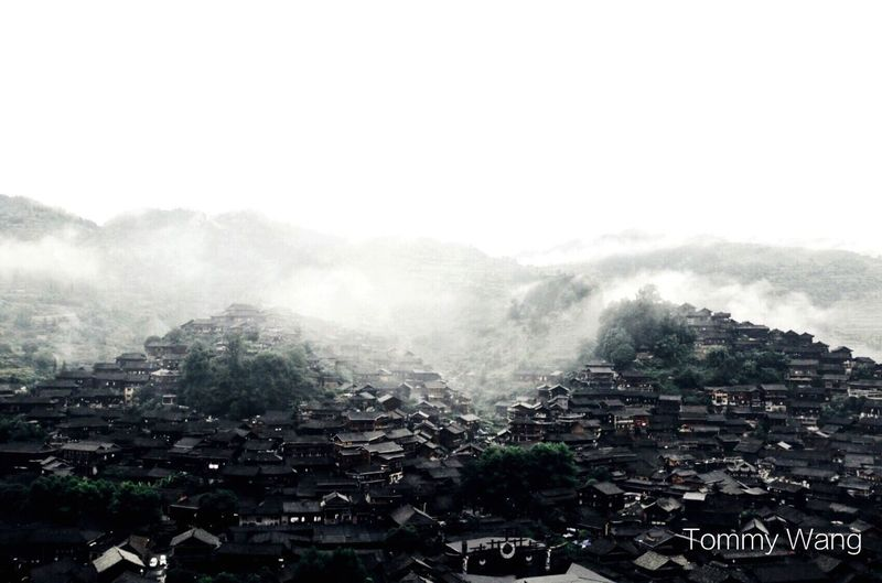 China in my eyes Tommy Wang 最美中国 Architecture Fog High Angle View Building Exterior City Nature Mountain Town Landscape Outdoors No People Day Built Structure Cityscape Scenics Tree Beauty In Nature Sky EyeEmNewHere