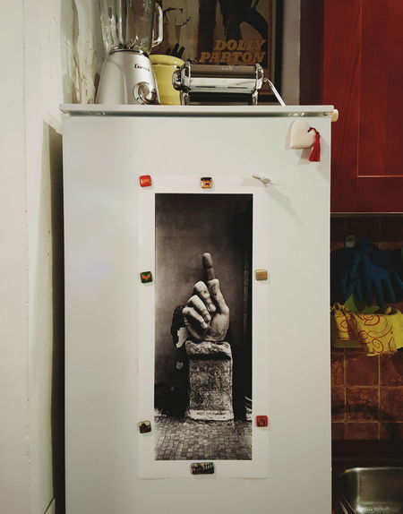 An old shoot became the new refrigerator's cover :) Kodak Trix Filmphotography Hasselblad Xpan