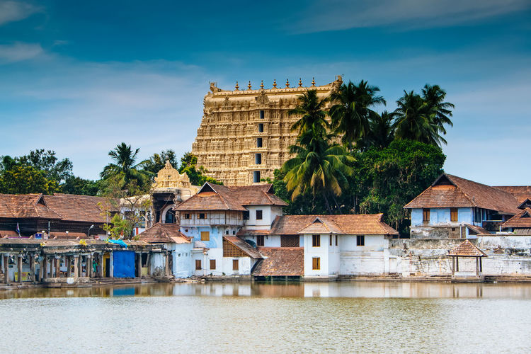 ASIA India Padmanabhaswamy Tempel Architecture Building Exterior Built Structure Cloud - Sky Day Kerala Nature No People Outdoors Padmanabhaswamy Temple Palm Tree Sea Sky Temple Tree Trivandrum Water Waterfront