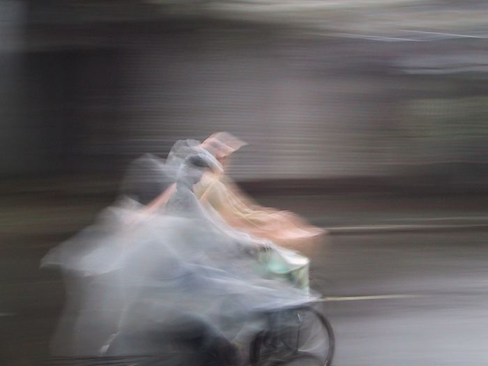 mousson Cycle Mousson Hanoi Streetphotography Impermeable Rain Females