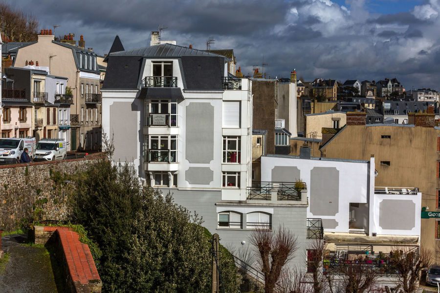 France Normandie Architecture Building Exterior Built Structure City Cityscape Cloud - Sky Day House Nature No People Outdoors Residential Building Sky Town Tree