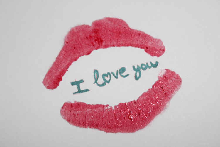 Close-up I Love You ❤ Lipstick Lipstick Stain Love Note L♥VE No People St Valentine's St Valentine's Day Text
