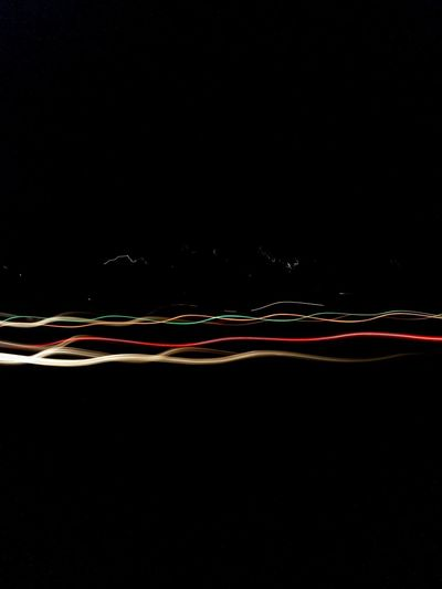 Light trails at night